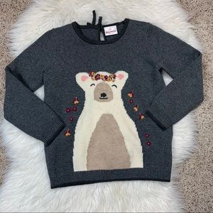 Hanna Andersson Polar Bear Embroidered Sweater